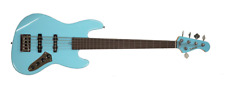 Allen Eden Disciple 5 Standard Sonic Blue Fretless with Matching Headstock
