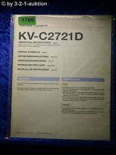 Sony Bedienungsanleitung KV C2721D Color TV (#1766)