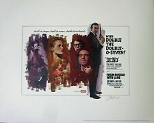 JAMES BOND DOUBLE FEATURE LTD ED LITHO- DR. NO AND FROM RUSSIA WITH LOVE