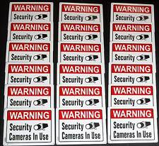 18 ALUMINUM Security Surveillance CCTV Camera System Warning Sign Lot