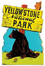 Yellowstone Natl. Park    Vintage-Looking  Travel Decal