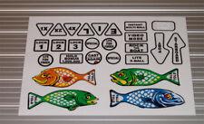 FISH TALES Pinball Machine Insert Decals LICENSED