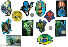 12 VINTAGE Retro UFO B-Movie Alien Invasion Party Favors Decals Stickers Set Lot