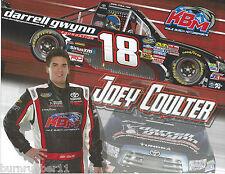 """2013 JOEY COULTER """"DARRELL GWYNN FOUNDATION KBM #18"""" NASCAR TRUCK POSTCARD"""