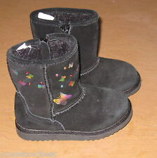 CIRCO TODDLER GIRLS BLACK SUEDE LEATHER SNOW WINTER BOOTS SIZE 8 GREAT