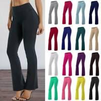 Women Bootcut Yoga Pants Flare Leg Trousers Workout Casual Fitness Loungewear