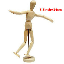 "Wooden Wood Human Figure 5.5"" inch Unisex Manikin Mannequin Artist Drawing Model"