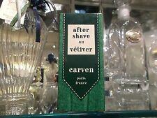CARVEN after shave au vetiver 60 ml RARE VINTAGE apres rasage