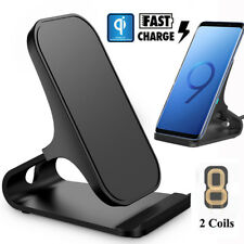 Fast Charging Qi Wireless Charger Stand for Samsung Galaxy S9 S8 Plus Note 9 8
