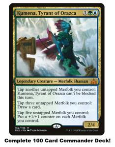 Kumena, Tyrant of Orazca Commander Deck EDH 100 Magic Cards MTG Merfolk Tribal