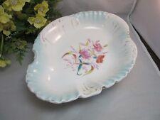 Vtg KPM made in Germany porcelain bowl.Scalloped edge