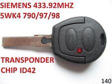 FORD GALAXY VW SHARAN  SIEMENS 433.92MHZ 5WK4  remote key fob controler