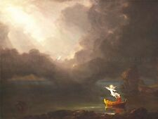 THOMAS COLE AMERICAN VOYAGE LIFE OLD AGE OLD ART PAINTING POSTER BB6416A