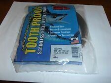 AFW---STAINLESS--# 14--TOOTH PROOF--BROWN--218 # -----ONE ONE POUND  PACKAGE