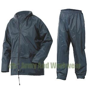 Waterproof Jacket & Trousers Packaway Set Rain Suit Mens Womens Ladies Pack