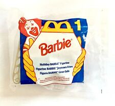 Vtg Mattel 1995 Holiday Barbie #1 In Sleigh McDonalds Happy Meal Toy Christmas