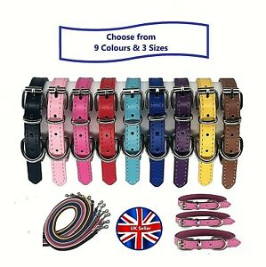 Soft Faux Leather Puppy Collars, Small Dog Collars, Puppy Collar and Lead Sets
