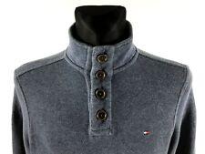 Tommy Hilfiger Men's Blue 1/4 Button Cotton Jumper Size S/P