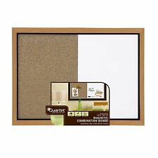 Quartet Home Decor Combination Board, 17 x 23 Inches, Dry-Erase/Cork, Oak