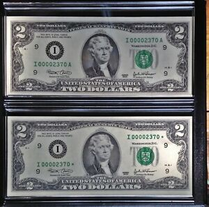 2003 US Bureau of Engraving Evolutions Series, A and Star Note, FDOI, 1 of 2000