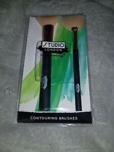 Studio London Makeup 1 Fan Brush & 1 Contouring Brushes X1 Pack Gift