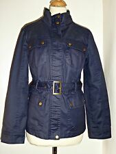 OASIS glazed cotton belted jacket UK L 14 16
