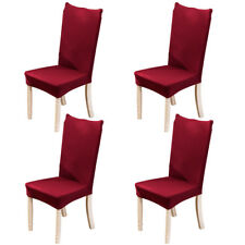 4pcs Spandex Stretch Chair Cover Banquet Party Decor Dining Room Seat Covers Red