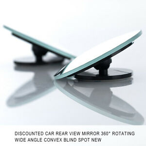 1pc Car Rear View Mirror 360° Rotating Wide Angle Convex Blind Spot Parts dedj