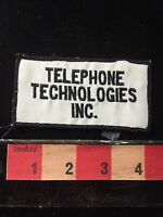 Vintage TELEPHONE TECHNOLOGIES INC. Brand Advertising Patch PHONE 60C8