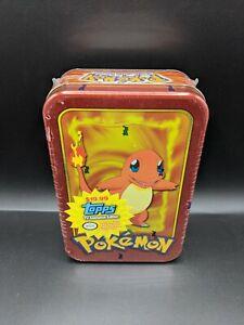 1999 Pokemon Topps TV Animation Edition Charmander Tin FACTORY SEALED