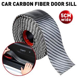 Carbon Fiber Car Door Plate Sill Scuff Cover Anti Scratch Stickers 79in-L 2in-W