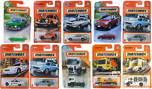 Lot of (10) 2019 - 2021 Matchbox Diecast Cars New Factory Sealed Mint