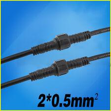 2Pin Cable Enchufe Macho Hembra Conector Impermeable Toma De Alimentación Alambre Eléctrico