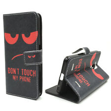 Cases for Mobile Phone ZTE Blade V7 Lite Don'T Touch Red Cover Wallet Cover New