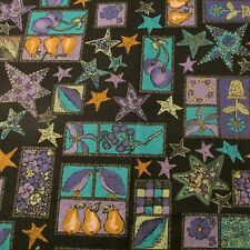 Cotton Fabric Carol Roeda Shadow & Shine pear purple cherry kitchen BTHY