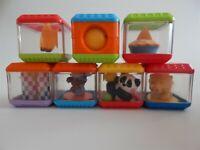 Fisher Price Peek a Boo Blocks - 7 sensory stacking cubes