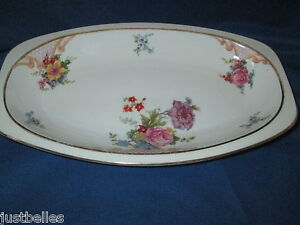 Epiag BRIDAL ROSE Relish Platter 19411945 Czechoslovakia have more items to set