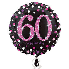 Pink Celebration 60th Standard Foil Prismatic Balloon S40 - 5 Pkg