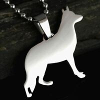 FREE USA SHIPPING Stainless Steel German Shepherd Dog Charm Pendant Necklace