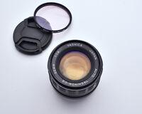Yashica Auto Yashinon-DS 50mm f1.4 M42 Mount Lens Caps & Filter NEX M4/3 (#4170)