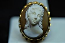 Pendant Vintage Approx 6 grams tw Antique 14k Yellow Gold Cameo Pin Broach