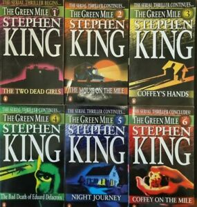 STEPHEN KING -THE GREEN MILE - 6 PART PAPERBACK SERIES- AUSTRALIAN FIRST EDITION