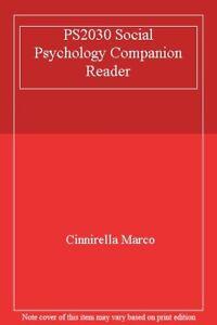 PS2030 Social Psychology Companion Reader-Cinnirella Marco