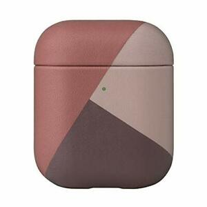 Native Union Marquetry Case - Italian Leather Case for AirPods Gen 1 & 2 (Rose)