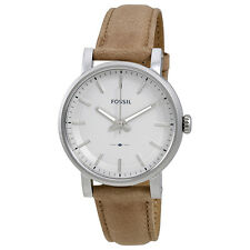 Fossil Original Boyfriend Silver Dial Ladies Beige Leather Watch ES4179