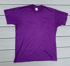 VTG Fruit Of The Loom Golden Blend Men's XL T-Shirt Single Stitch Purple 50-50