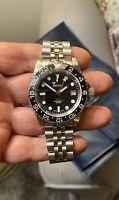 """Squale 1545 30 Atmos GMT  Girmondo  Black Watch Swiss 40mm Under Warranty""""Mint"""""""