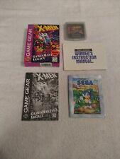 SEGA GAME GEAR X-MEN MASTER'S LEGACY GAME COMPLETE IN BOX 1994