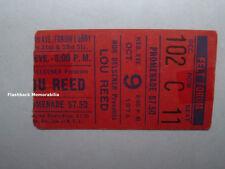 Lou Reed 1974 Concert Ticket Stub Madison Square Garden Nyc Velvet Underground