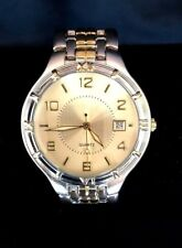 GENEVA Two Tone Stainless Steel Men's Watch   Japan Movement Quartz   NEW